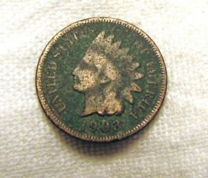 AA323 1903 INDIAN HEAD CENT