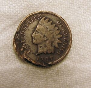 AA329 1907 INDIAN HEAD CENT