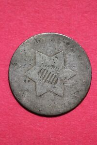 LOW GRADE NO DATE SEATED LIBERTY TRIME 3 CENT SILVER FLAT RATE SHIPPING OCE 022