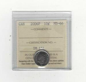 Click now to see the BUY IT NOW Price!   2006P   ICCS GRADED CANADIAN  10  CENT   MS 66