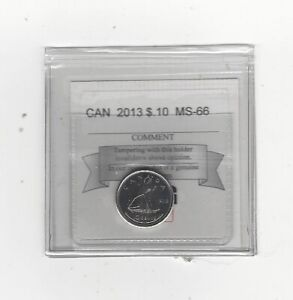 Click now to see the BUY IT NOW Price!   2013   COIN MART GRADED CANADIAN  10  CENT   MS 66
