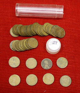 1927 LINCOLN WHEAT CENTS    1 CIRCULATED ROLL