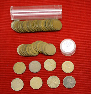 1928 D LINCOLN WHEAT CENTS    1 CIRCULATED ROLL