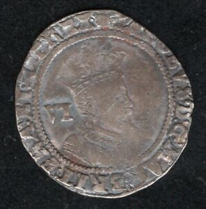 JAMES I HAMMERED 1606 SILVER SIXPENCE 1ST