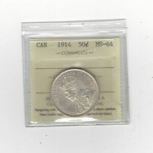 Click now to see the BUY IT NOW Price!   1914   ICCS GRADED CANADIAN 50 CENT   MS 64
