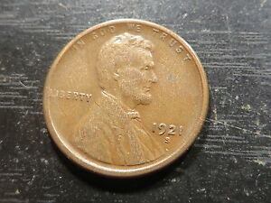 1921 S LINCOLN WHEAT CENT  1 SOLID ALBUM HOLE FILLER KEY COIN