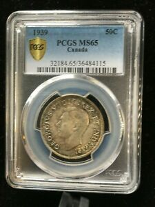 Click now to see the BUY IT NOW Price!   1939   PCGS GRADED CANADIAN 50 CENT   MS 65