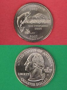 2007 D WASHINGTON STATE QUARTER WITH 2X2 CASE FROM MINT SET COMBINED SHIPPING