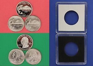 2007 D P S WASHINGTON QUARTERS WITH 2X2 CASES FROM MINT SETS COMBINED SHIPPING