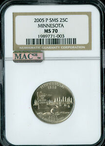 Click now to see the BUY IT NOW Price! 2005 P MINNESOTA QUARTER NGC MAC MS70 SMS FINEST REGISTRY SPOTLESS