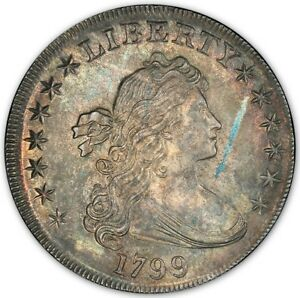 Click now to see the BUY IT NOW Price! 1799 $1 DRAPED BUST DOLLAR PCGS MS65