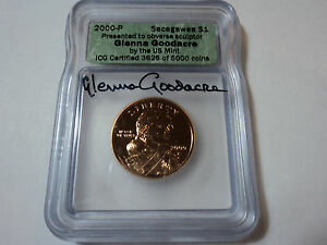 Click now to see the BUY IT NOW Price! 2000 P  SACAGAWEA     GLENNA GOODACRE     DOLLAR SIGNED     ICG  2417/5000