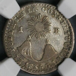 Click now to see the BUY IT NOW Price! 1836 GJ NGC VF 25 ECUADOR 1 REAL  QUITO SILVER COIN POP 1/1  19030902C