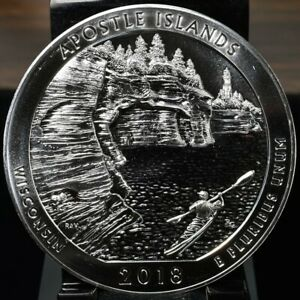 2018 APOSTLE ISLAND AMERICA THE BEAUTIFUL SILVER 5 OZ QUARTER