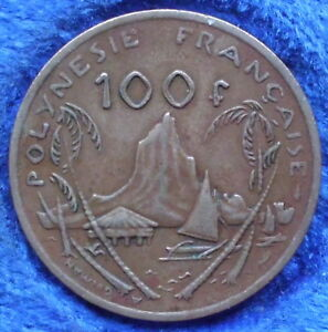 FRENCH POLYNESIA   100 FRANCS 1976 KM 14   EDELWEISS COINS