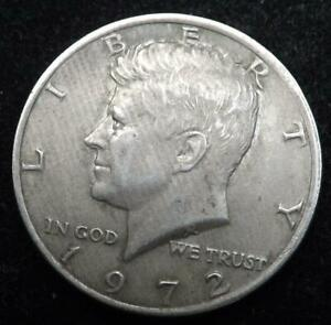 1972 USA KENNEDY $1/2 HALF DOLLAR COIN.