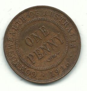 A FINE 1936 AUSTRALIA   AUSTRALIAN ONE LARGE PENNY COIN DEC935