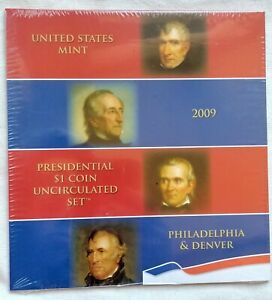 2009 UNITED STATES MINT PERSIDENTIAL $1 COIN UNCIRCULATED 8 COIN SET UNOPENED