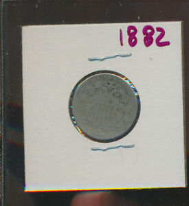 SHIELD NICKEL   1882   H   BLOWOUT PRICE