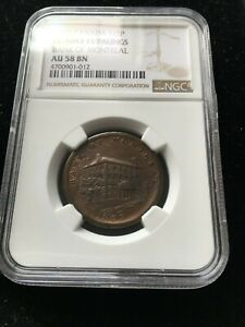 Click now to see the BUY IT NOW Price! 1838 CANADA TOKEN LC 10A3  11 PALINGS  NGC GRADED  AU 58   MONTREAL TOKEN