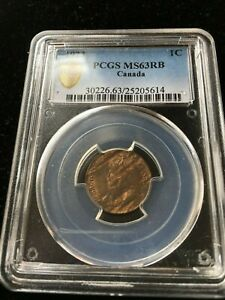 Click now to see the BUY IT NOW Price!   1923   PCGS GRADED CANADIAN SMALL ONE CENT   MS 63
