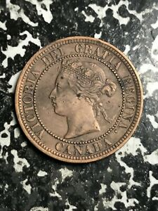 1876 H CANADA LARGE CENT LOTL3640 NICE DETAIL  OLD CLEANING