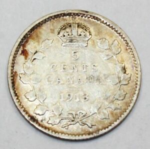 Coins & Paper Money Canada 3 X 5 Cents 1913 1919 1920