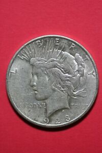 1923 S LIBERTY PEACE SILVER DOLLAR EXACT COIN SHOWN FLAT RATE SHIPPING TOM 270