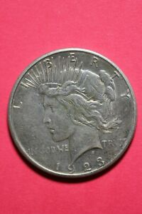 1923 S LIBERTY PEACE SILVER DOLLAR EXACT COIN SHOWN FLAT RATE SHIPPING TOM 243