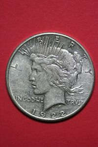 1922 S LIBERTY PEACE SILVER DOLLAR EXACT COIN SHOWN FLAT RATE SHIPPING TOM 353