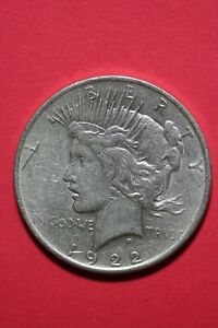 1922 P LIBERTY PEACE SILVER DOLLAR EXACT COIN SHOWN FLAT RATE SHIPPING TOM 267