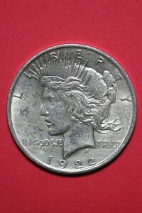 1922 P LIBERTY PEACE SILVER DOLLAR EXACT COIN SHOWN FLAT RATE SHIPPING TOM 337