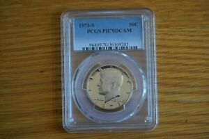Click now to see the BUY IT NOW Price! 1973 S 50C KENNEDY HALF DOLLAR PROOF PCGS PR70DCAM