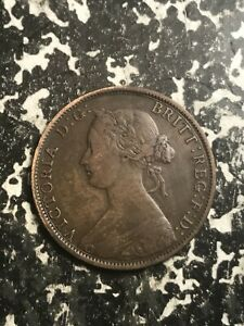 1861 NOVA SCOTIA 1 CENT LOTL4954 NICE DETAIL   OLD CLEANING