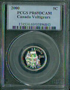 Click now to see the BUY IT NOW Price! 2000 CANADA VOLTIGEURS SILVER 5 CENTS PCGS PR69 2ND FINEST REGISTRY