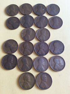 LINCOLN CENTS: 1910 1919 PHILADELPHIA MINT   ANY 2 COINS        2HM 10