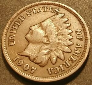 1907 INDIAN HEAD CENT PENNY COLLECTIBLE COPPER COIN