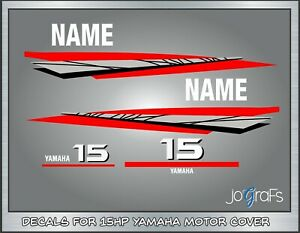 YAMAHA 20 HP Four Stroke Outboard Decals Reproductions 15 hp available