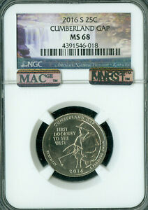 Click now to see the BUY IT NOW Price! 2016 S CUMBERLAND GAP NGC MAC MS68 PQ FINEST REGISTRY POP 7 SPOTLESS