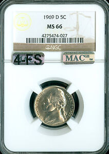 Click now to see the BUY IT NOW Price! 1969 D JEFFERSON NICKEL NGC MAC MS66 4FS PQ FINEST REGISTRY $35 000 IN FS