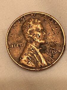 1964  LINCOLN  CENT    LARGE NOSE ERROR