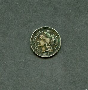 UNITED STATES  1865 THREE CENT NICKEL YOU DO THE GRADING HAVE FUN