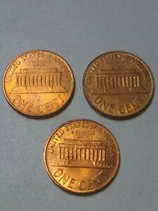 LOT OF 3 DDO LINCOLN MEMORIAL PENNIES.