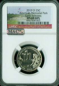 Click now to see the BUY IT NOW Price! 2019 D AMERICAN MEMORIAL QUARTER NGC MAC MS69 DPL 3 KNOWN OF 514 000 GRADED