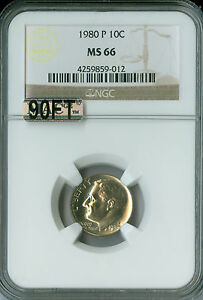 Click now to see the BUY IT NOW Price! 1980 P ROOSEVELT DIME NGC MAC MS66 90FT  $10 000 IN FT
