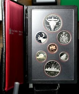 1982 CANADA DOUBLE DOLLAR REGINA CATTLE SKULL 7 COIN PROOF SET