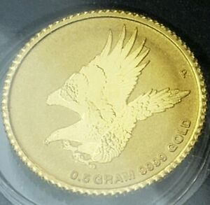 2015 AUSTRALIA SEALED. 5G GOLD WEDGE TAILED EAGLE COIN $2 MINT CONDITION PROOF
