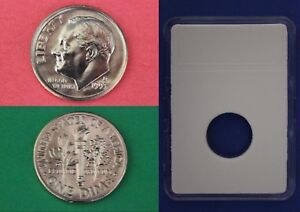 1993 D ROOSEVELT DIME WITH DIY SLAB FROM MINT SETS COMBINED SHIPPING