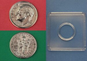 1995 D ROOSEVELT DIME WITH 2X2 SNAP FROM MINT SETS COMBINED SHIPPING