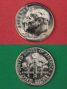 1972 D ROOSEVELT DIME FROM UNCIRCULATED MINT SETS COMBINED SHIPPING